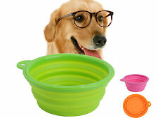 New Stretchable Silicon Food Feeder Pets Dog Cat Dish Water Container Food Bowl