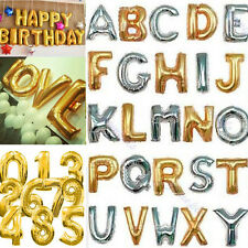 """16"""" 40"""" Digital Letters Balloons Kids Toys Wedding Birthday Party Decorations"""