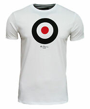 Ben Sherman Of London Men's Heritage Target Retro T Shirt Top Mod White 1910