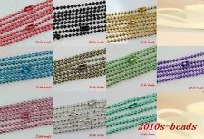 Fashion 10/30/50pcs beautiful 10color Metal  70cm Ball Chain Necklace 2.4mm bead