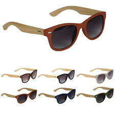 Bamboo Frame Sunglasses Glasses Leopard Gray Black Vintage Frames Real Wood