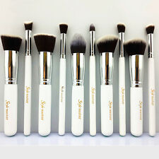 Style master White Silver Makeup Brushes Sets Professional Make Up Brush WD1