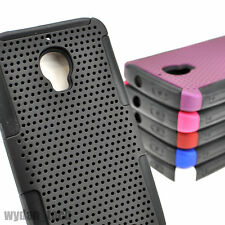 For Alcatel One Touch Fierce 7024W Hybrid Mesh Perforated Hard Gel Case