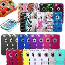 """For iPhone 6 4.7"""" 5S 4S 5C Hard Soft TUFF Hybrid Impact Defender Skin Case Cover"""