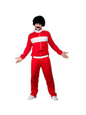 Adult 80'S Retro Trackie Outfit Fancy Dress Costume Shell suit Scouser 118 118