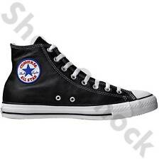 MENS CONVERSE ALL STAR LEATHER BOOTS SIZE 3 - 5 LADIES BLACK HI 1S581