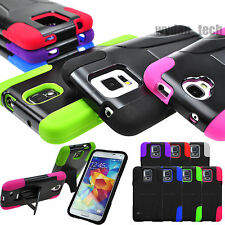 For Samsung Galaxy Y-Stand Hybrid Hard Soft Case Skin Double Layer Combo Cover