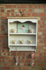 Country Kitchen Painted Pine and Oak wall shelf Handmade in the UK