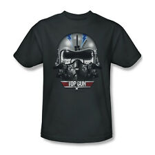 Top Gun Iceman Helmet T-Shirt Adult Men Charcoal Gray S M L XL 2X 3X
