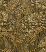 Chenille Fabric - Upholstery/Drapery  Beige/Gold