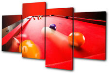 Sports Pool Game  MULTI CANVAS WALL ART Picture Print VA