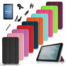 """Leather Case Cover For DELL Venue 8 8"""" inch Android Tablet + Screen Protector"""