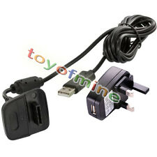 USB Power Adapter Charging Cable + UK Plug Socket Charger for Xbox 360 Gamepad