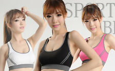 Seamless Lycra Padded Racerback WOMEN Top Athletic Vest Gym Sports Yoga Bra new