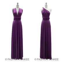 L2 DUSTY PURPLE MULTI WAY Dress Convertible Bridesmaid Maxi Full Length S M L XL