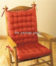 2-PIECE ROCKING CHAIR BACK AND SEAT CUSHION SET WITH ATTACHED TIES IN 3 COLORS
