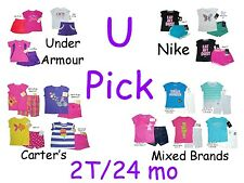 SHIRT SHORTS SET OUTFIT UNDER ARMOUR NIKE CARTERS ATHLETIC WEAR LITTLE GIRLS