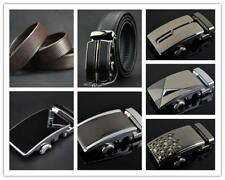 Vogue Auto Buckle Belt Waistband Buckle Genuine Leather Belt Fit Business Men S