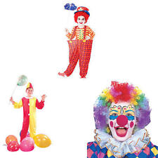Childrens Circus Clown Fancy Dress Costume Outfit Kit Set - All Ages - 2 Styles