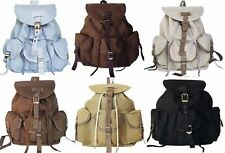 Military Style Draw String Closure Canvas Backpack Daypack Rucksack