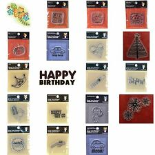 SNAG EMS Acrylic Clear Rubber Stamp Sets (You Choose Theme and Style)