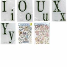 Paper Studio Acrylic Clear Rubber Stamp Sets (You Choose Theme and Style)