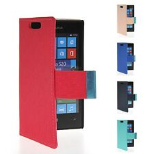 New Cute Color Skin Leather Stand Side Flip Back Cover Case For Nokia Lumia 520