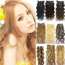 "18""-22""100% Remy human hair Clip-In Human Hair Weave Bodywave Extension 70g100g"