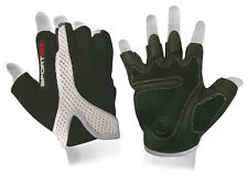Sporteq Padded Cycling Gloves Light Weight Bike Bicycle Fingerless, Half finger