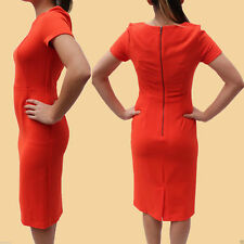 Next Classic Black Orange Navy Crepe Shift Fitted Pencil Dress Casual Office
