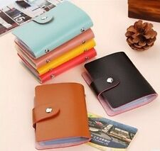 New Leather Credit Card Case 24 Cards Soft leather Credit ID Card Holder Wallet