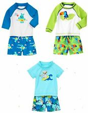Gymboree  Boy 2 pc UPF 50+ Rashguard & Swim Trunks 6 12 18 24 2T 3T 4T 5T NWT