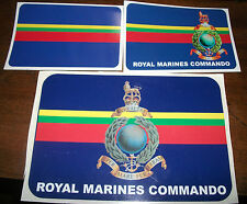 ROYAL MARINES CAR BUMPER STICKERS - CORPS COLOURS, MEDIUM AND LARGE