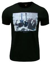 Ben Sherman Heritage Men's Retro T Shirt Top Mod Rock N Roll Guitars black 2223