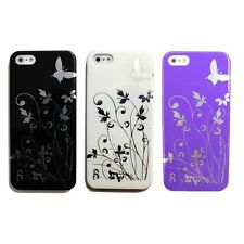 Butterfly Vine Flower Pure Hard Back Cover for Apple iPhone 5 Case 5S 5G 5th