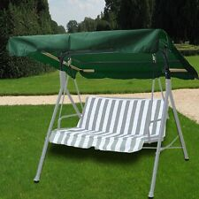 New Deluxe Outdoor Swing Canopy Replacement Porch Top Cover Seat Patio Green