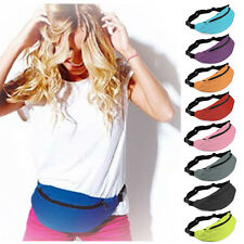 Unisex Bum Bag Fanny Pack Hip Waist Festival Sport Money Zip Pouch Belt Wallet