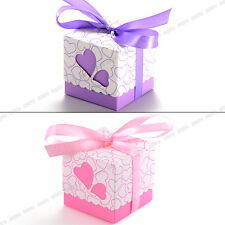 100 Pieces Candy Boxes Gift Boxes With Ribbons Wedding Favor