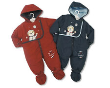 BABY BOYS SNOWSUITS ALL IN ONE HOODED ASTRONAUT #78 BNWT