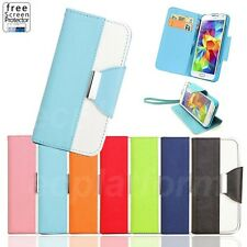 Wallet Card Slot Flip Leather Cover Case Pouch f. Samsung S3 S4 mini S5 Note 2 3