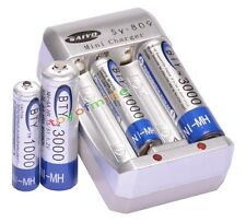 2AA 3000mAh +2AAA 1000mAh NI-MH 1.2V rechargeable battery for MP3 RC BTY+Charger