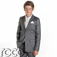 Boys Grey Suit, Page Boy Suits, Waistcoat Suits, Wedding Suits, Ivory Waistcoat