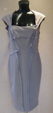 HOLLY WILLOUGHBY Grey Ribbed Pencil Wiggle Dress Size 8 10 12 14  BNWT