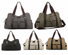 Mens Canvas Shoulder Bags Duffle Casual Overnight Bags Travel Handbags Totes New