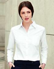 Fruit Of The Loom Lady-Fit Poplin Long Sleeved Shirt (SS012) Sizes 6-18