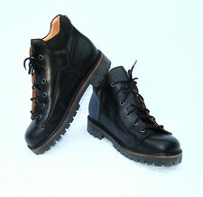 KIDS(INFANTS) BLACK REAL LEATHER LACE UP STRIDER SCHOOL SHOE-BOOTS SIZES 8-12.5