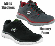 Mens Skechers Memory Foam Master Plan Lightweight Sports Running Trainers 7-13