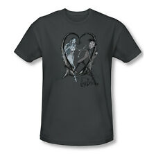 Corpse Bride Animated Romance Movie Burton Runaway Groom Adult Slim T-Shirt Tee
