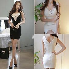 NEW Women Summer Bandage BodyCon Lace Evening Sexy Party Cocktail MINI Dress