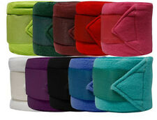 Horse Riding Full Size Fleece Polo Wraps In Pink Blue Black Lime Set Of 4